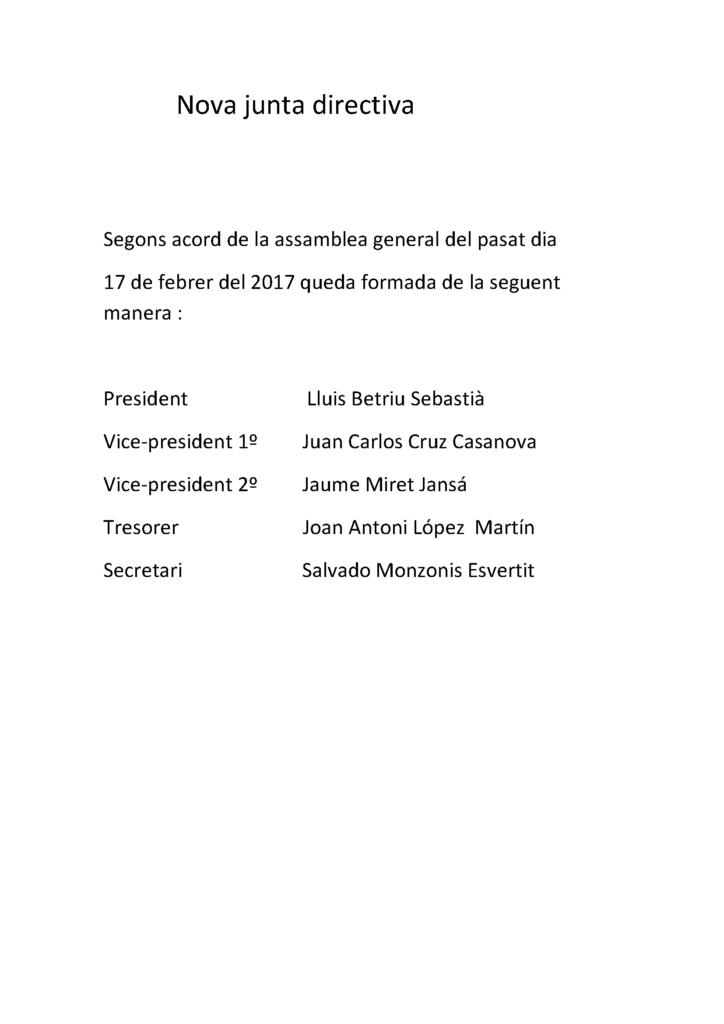 Nova junta directiva 2017