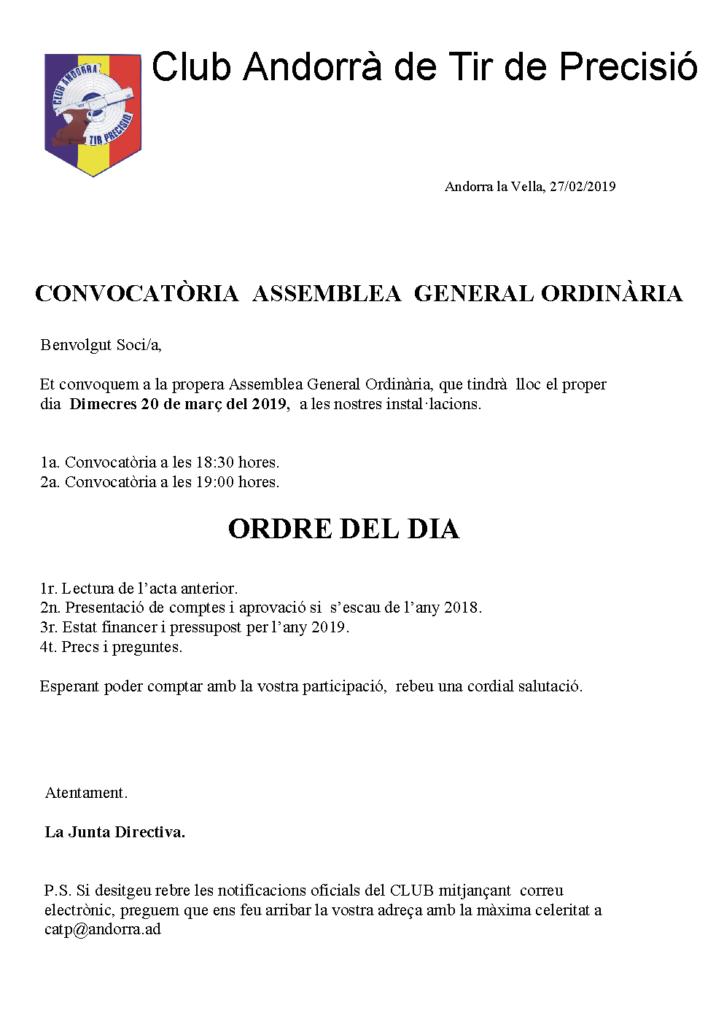 Assamblea General 2019